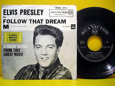 ELVIS PRESLEY Follow That Dream RARE 1962 OST GREEK ORIGINAL 7  EP 45rpm   P S