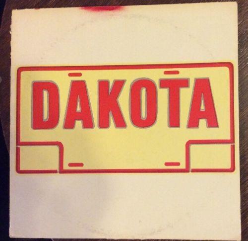 DAKOTA Vinyl Record LP TIGER LILY  Tax Scam Label MEGA MEGA RARE