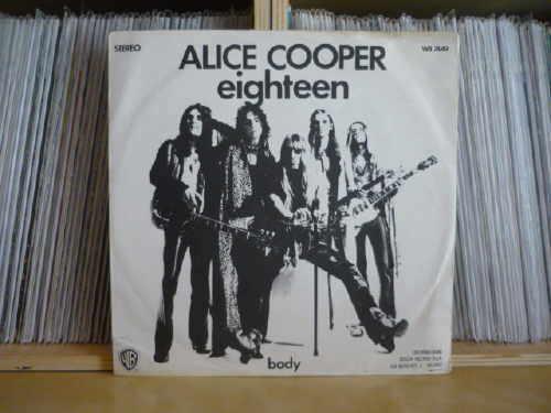 ALICE COOPER   Eighteen   Italy PS 7    Ultra rare