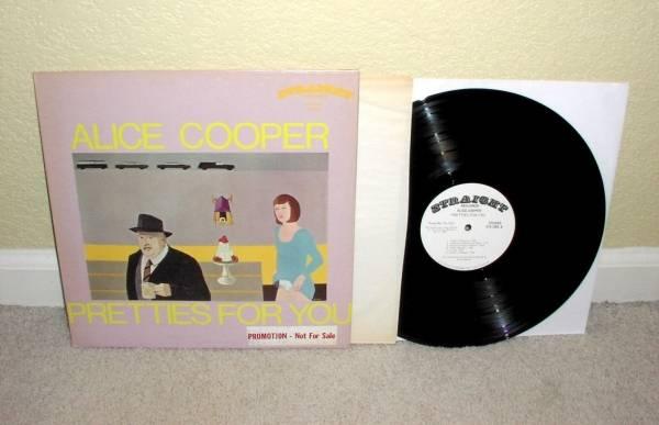 ALICE COOPER Pretties For You LP Orig 1st Press Straight WL PROMO Acid Psych NM