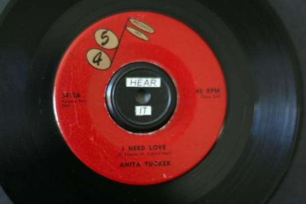 ANITA TUCKER  I NEED A LOVE   IN DEMAND R B POPCORN ON 45 RECORDS  VG   LISTEN