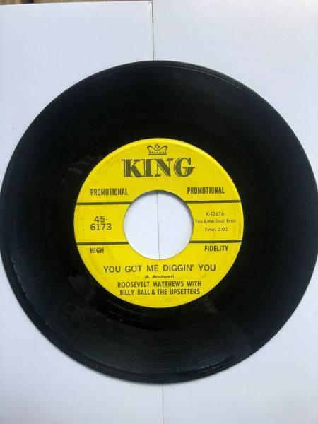 Northern Soul Funk 45 Roosevelt Matthews Tighten Up 1968 King Records Promo