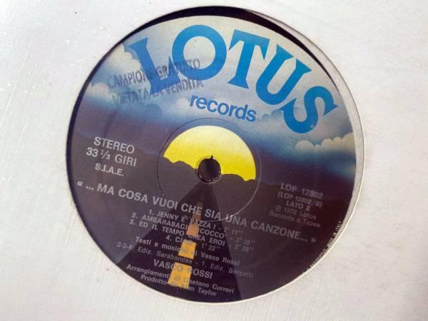 Vasco Rossi            Ma Cosa Vuoi Che Sia Una Canzone     LP Promo RARO 1978 Lotus