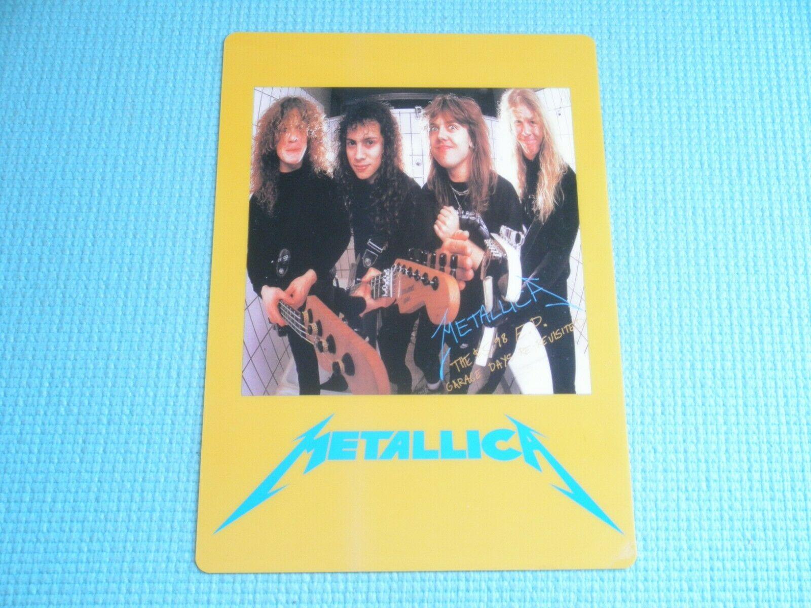 METALLICA Promo Prize Plastic Sheet Garage Days Album 1st Press Japan CD 12  LP