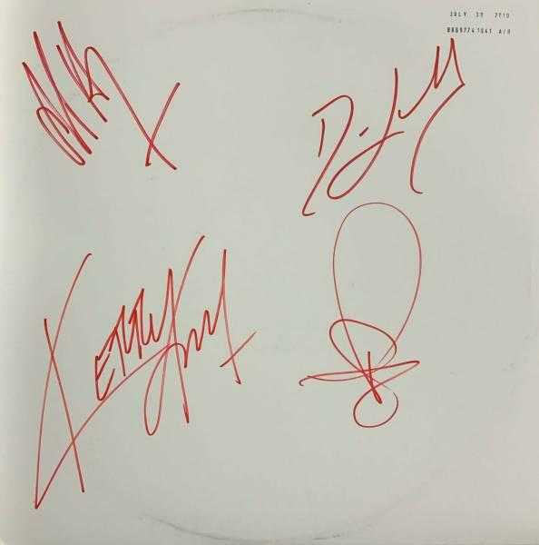 Slayer World Painted Blood Signed Test Pressing LP   and Slipmat   Hanneman