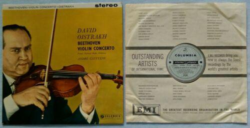 RARE LP Oistrakh Beethoven Violin Concerto Op 61 COLUMBIA SAX2315 STEREO SILVER