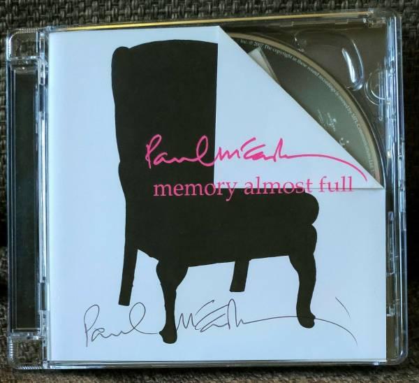 Paul McCartney signed Memory Almost Full CD  Genuine Beatles autograph  Mint