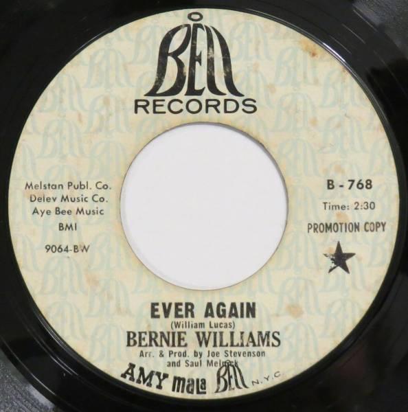 BERNIE WILLIAMS Ever Again  Next To You BELL 45 northern soul 1969 original HEAR