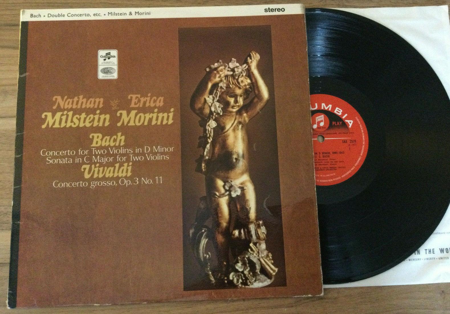 SAX 2579 BACH Double Concerto Milstein   Morini UK 1965  Rare Columbia LP