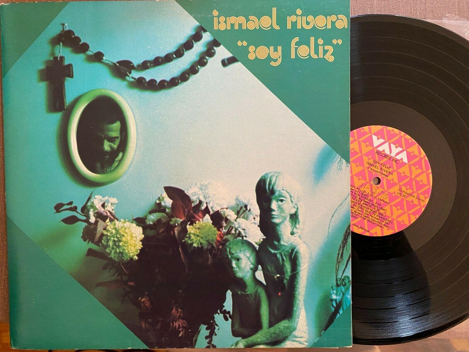 Ismael Rivera Soy Feliz Vaya Salsa Latin LP VS 35 Montuno    Sterling    stamps