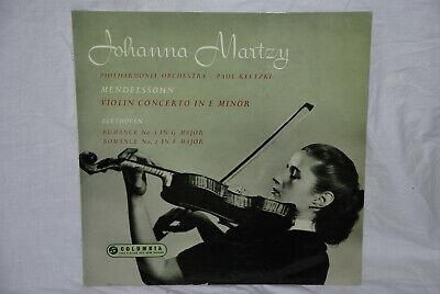 JOHANNA MARTZY   violin   COLUMBIA orig UK LP 33 CX 1497 Mendelssohn   Beethoven