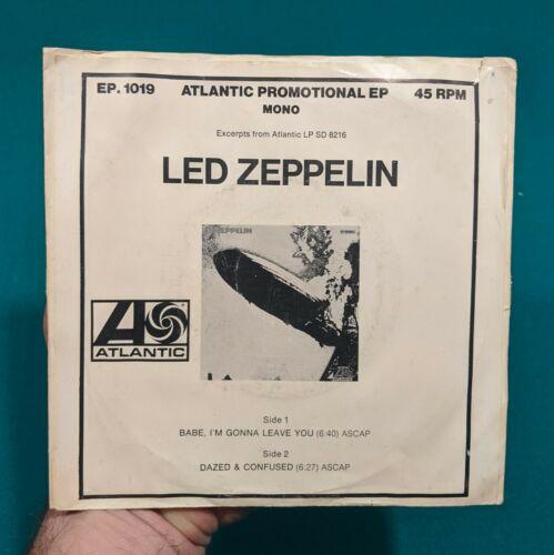 ULTRA RARE  Led Zeppelin 45 Dazed   Confused Babe I m Gonna Leave You PROMO MONO