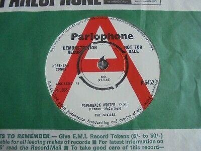 The Beatles   Paperback Writer 1966 UK 45 PARLOPHONE DEMO
