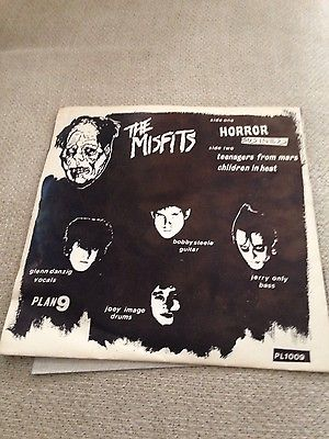 The Misfits Horror Business 7  yellow vinyl record 1st Press