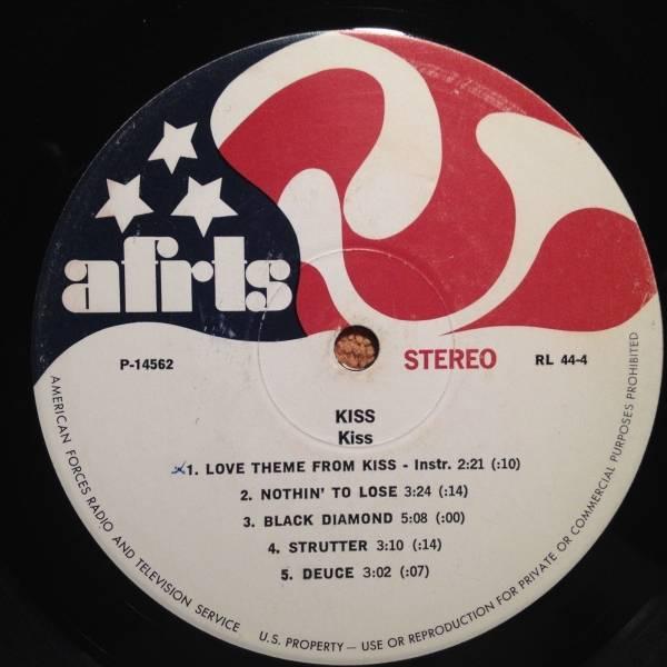 KISS   1rst Album  AFRTS  LP  Aerosmith   Get Your Wings   MEGA RARE VG