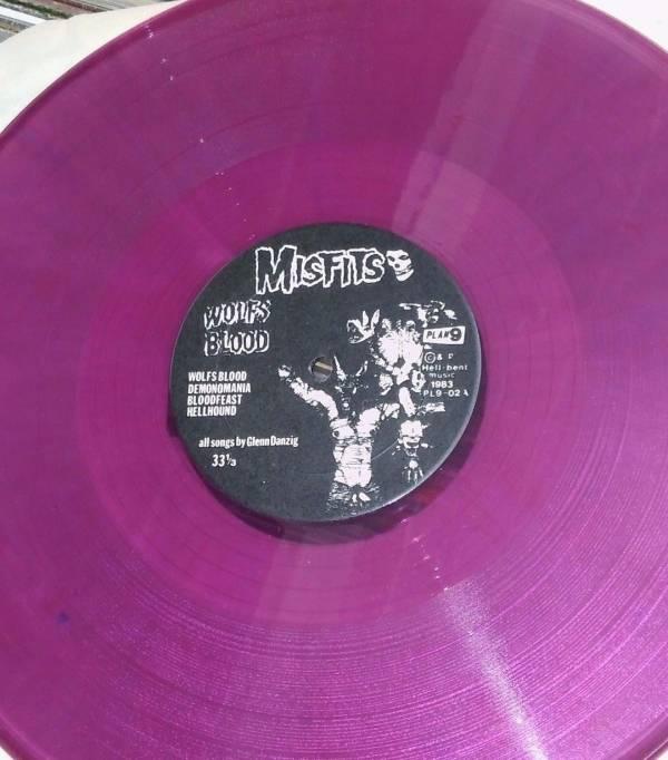 MISFITS Earth A D  Mega Rare PURPLE VINYL LP authentic danzig