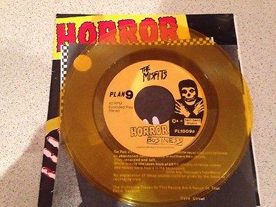 misfits original horror business yellow 7  vinyl record