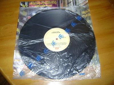 Iron Maiden  SOMEWHERE IN TIME  Lp Venezuela Rodven Ultra rare item CREAM LABELS