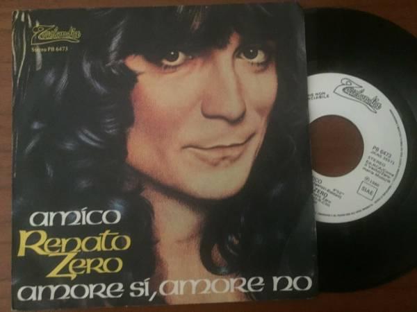 45 RENATO ZERO  AMICO  PROMO COPY ORIGINAL ITALY 1980