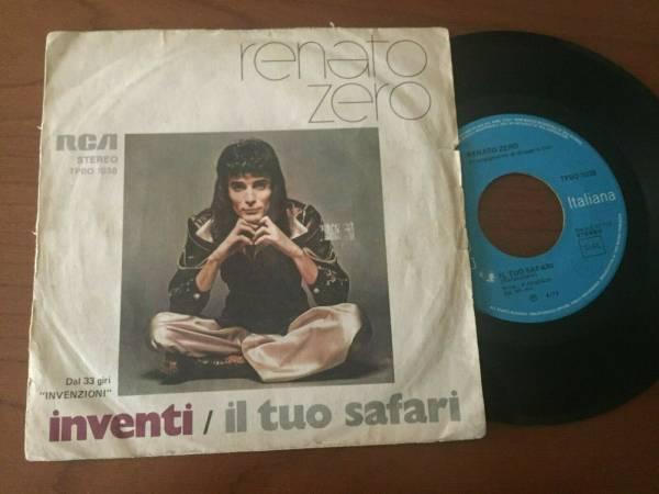 45 RENATO ZERO  INVENTI   IL TUO SAFARI  RARO ORIGINALE ITALIA 1974