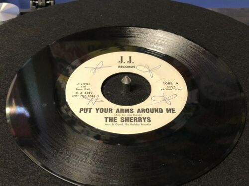 The Sherrys 45 Rare Northern Soul Put Your Arms Around Me Happy Girl