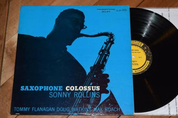 Sonny Rollins Saxophone Colossus W50 DG RVG Prestige lp Doug Watkins Max Roach