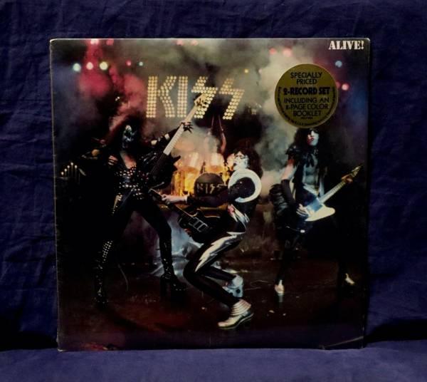 KISS MEGA RARE SEALED 2LP ALIVE  1975 USA 1st PRESS W ORIGINAL HYPE STICKER