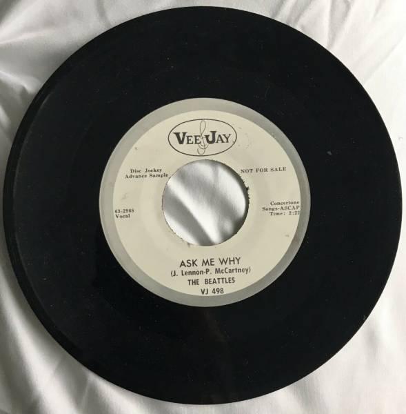 The Beatles 1963 Promo Ask Me Why Please Please Me 45 Misspell Vee Jay VJ 498