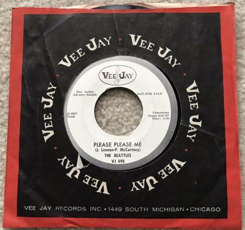 Beatles 1963 Promo Ask Me Why Please Please Me 45 Misspell Vee Jay VJ 498 Sleeve