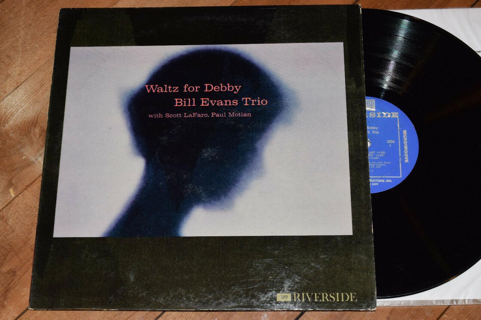 Bill Evans Trio Waltz For Debby PLAYS EX  1st DG Riverside lp 399 Scott La Faro