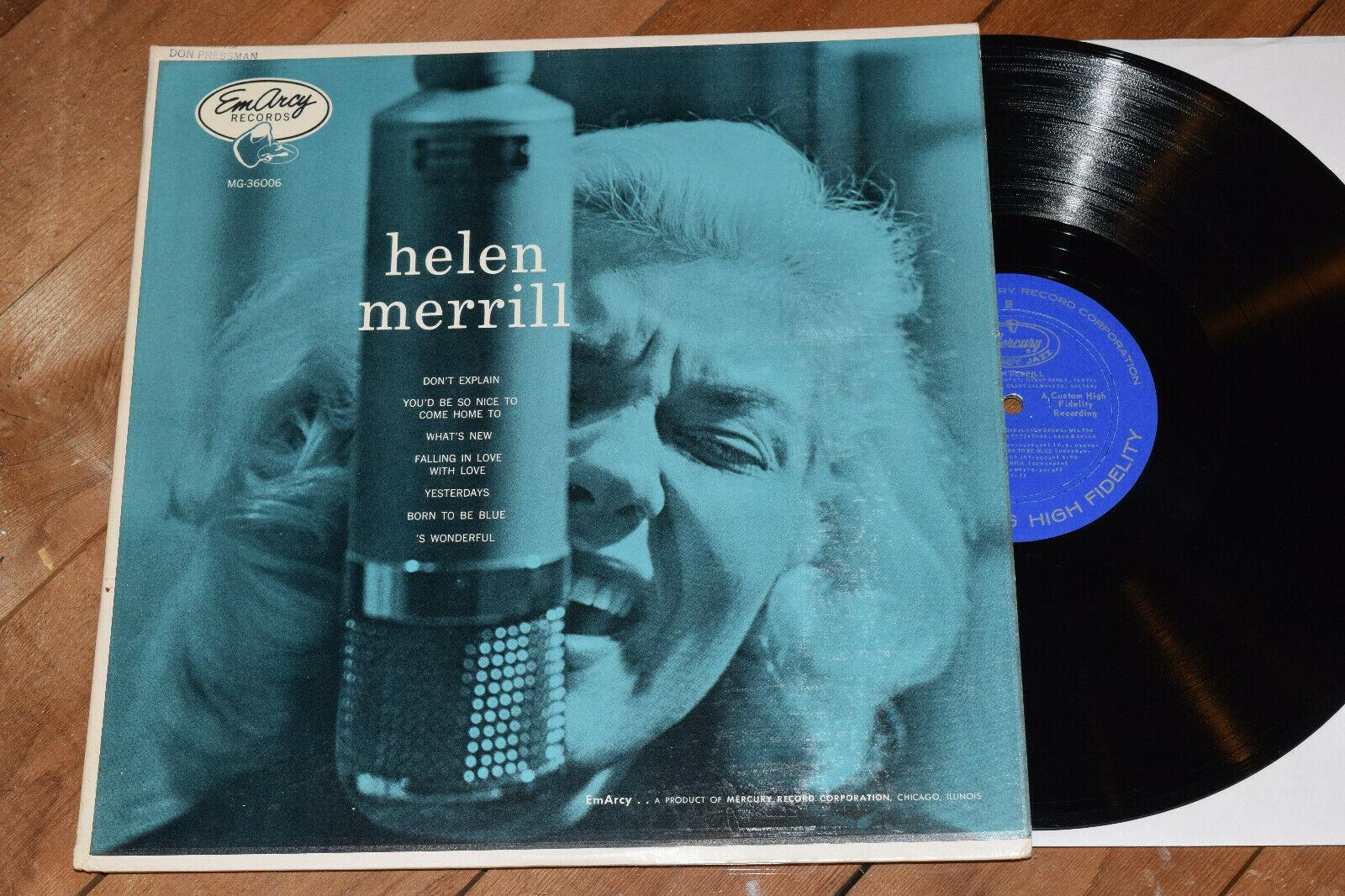 Helen Merrill NM  DG Emarcy lp Rare Female Jazz Vocal Clifford Brown Clark Terry