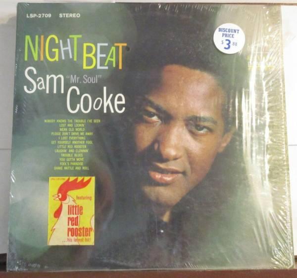 Sam Cooke  Night Beat  U S  Stereo RCA 2709 12  Lp in shrink w  hype sticker