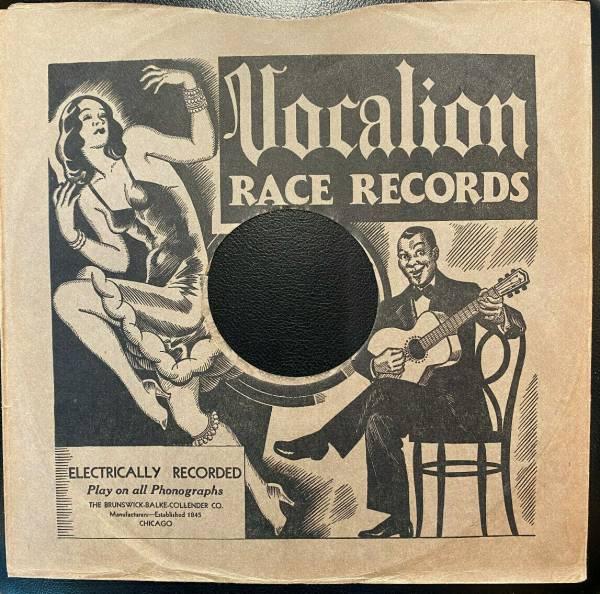 1930 VOCALION Race Records  sleeve BLUES VAMP impage 78rpm BLUES rare E