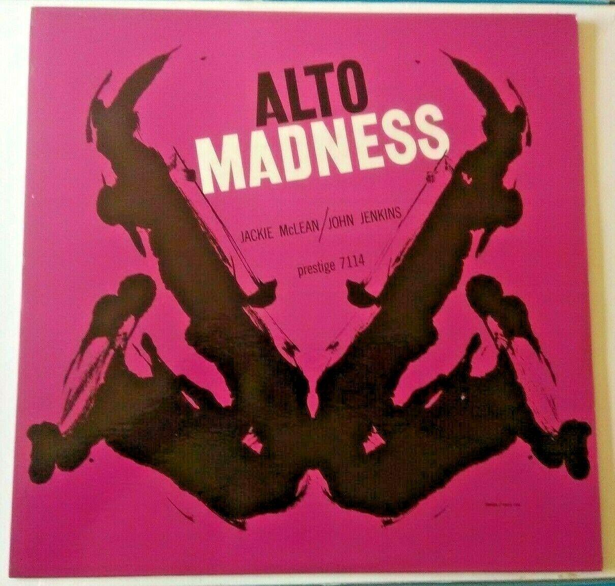 JACKIE MCLEAN JOHN JENKINS  Alto Madness  LP   prestige RVG 448 W  microgroove