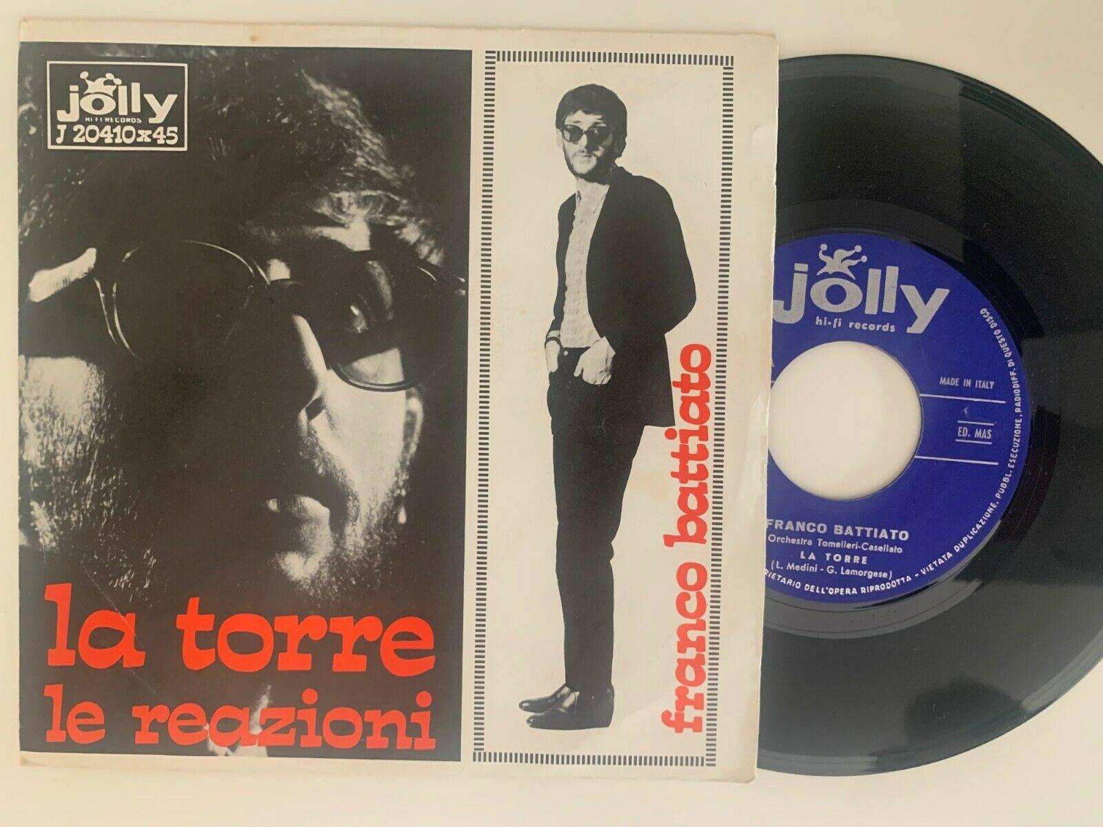 FRANCO BATTIATO  LA TORRE   LE REAZIONI  45 1967 RARO   ITALIAN BEAT 7