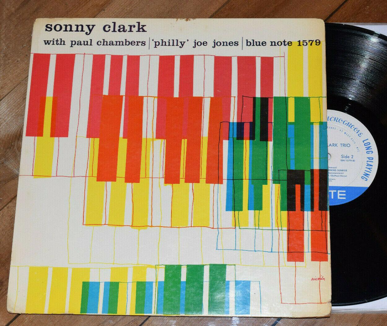 Sonny Clark Trio VG  1st DG W63 Blue Note 1579 lp Paul Chambers Philly Joe Jones