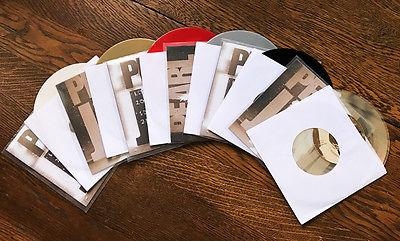 Pearl Jam Ten sampler promo 7  45 set colored vinyl rare small hole misprint