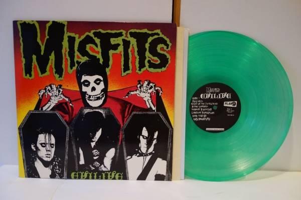 EX  NM The Misfits  Evil Live GREEN Color Vinyl Caroline Plan 9 RARE grunge punk