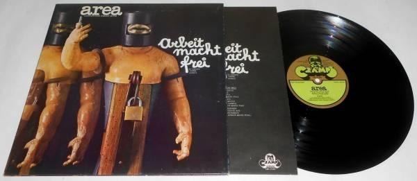 AREA ARBEIT MACHT FREI LP 1973 COPERTINA APRIBILE   GATEFOLD   INNER