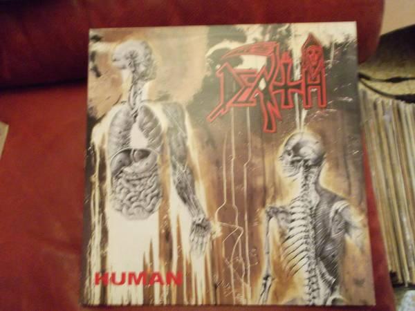 Death   Human Mega Rare Death Metal LP Orig 1   Europe 1991 R C records Near Mint