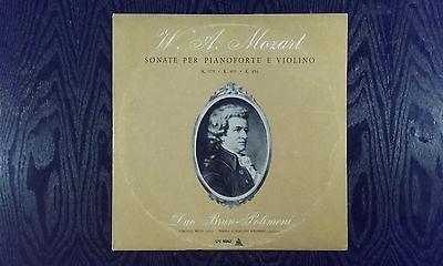 MOZART DUO  BRUN VIOLIN POLIMENI PIANO CETRA 55042 RAREST ITALIAN CHAMBER LP