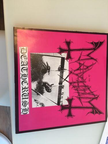 Mayhem  Deathcrush Vinyl  1st Press  Posercorpse C W Insert