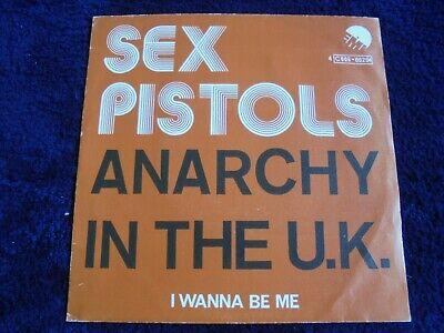 Sex Pistols   Anarchy In The U K  1976 BELGIUM 45 EMI PUNK KBD