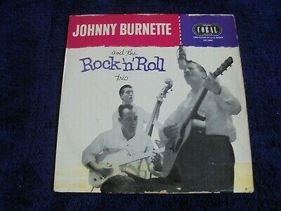Johnny Burnette   The Rock  N  Roll Trio   Same 1956 UK 10  LP VOGUE CORAL 1st