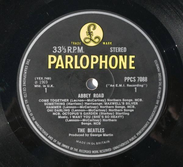 BEATLES Abbey Road LP original 1969 yellow black UK Parlophone export  Decca