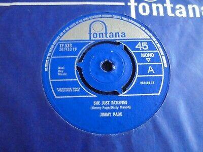 Jimmy Page   She Just Satisfies 1965 UK 45 FONTANA 1st LED ZEPPELIN FREAKBEAT