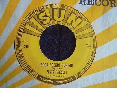Elvis Presley   Good Rockin  Tonight 1954 USA 45 SUN 1st with PUSH MARKS