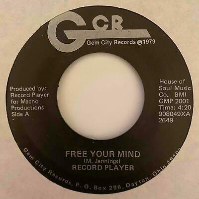 Modern Soul Grail 45 RECORD PLAYER Free Your Mind Gem City Orig  HEAR Rare