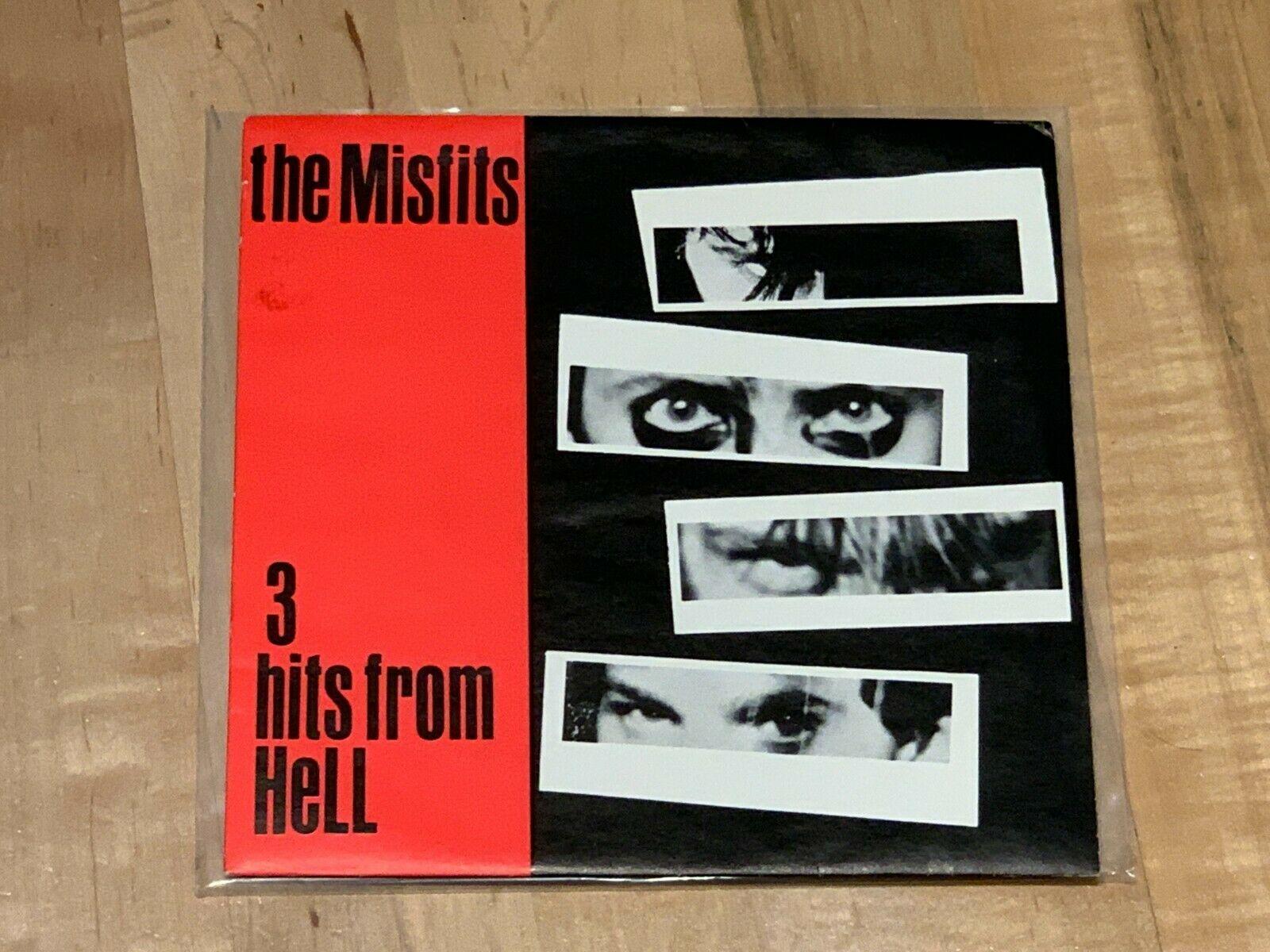 Misfits 3 Hits From Hell 7  Grey Label Original Plan 9 Records Samhain Danzig