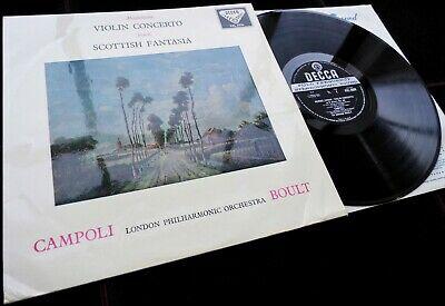 Bruch  Scottish Fantasia   Mendelssohn   Campoli   Decca SXL 2026 WBg ED1 LP